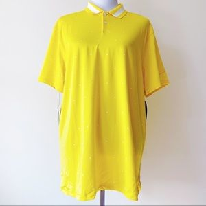 🆕 Nike Dr Fit Vapor Triangle Golf Polo Yellow